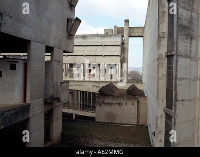 eveux lyon kloster la tourette le corbusier stock photo