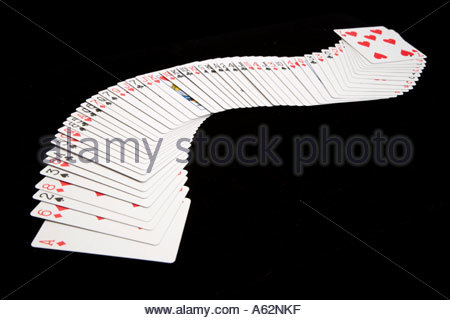 spread out deck of cards - Stock Photo