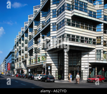 People at department store, Friedrichstrasse, Berlin, Germany - Stock Photo