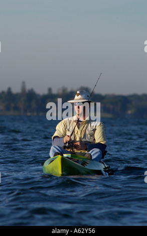 Man fishing from kayak intracoastal waterway indian river for Port st lucie fishing