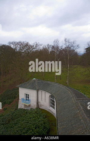 Commonwealth Air Forces Memorial Runnymede Surrey England - East Lookout - Stock Photo