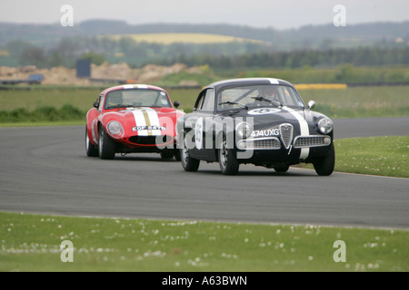 Chasing down the leader, Croft - Stock Photo