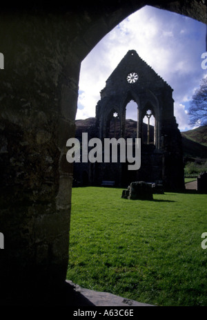Valle Crucis Abbey Remains Of 13th Century Cistercian Abbey Llangollen Denbighshire North Wales UK Europe - Stock Photo