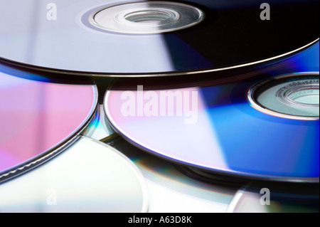 Many multicolored DVD / CD - Stock Photo