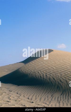 sand dunes of maspalomas island of gran canaria canary islands spain - Stock Photo