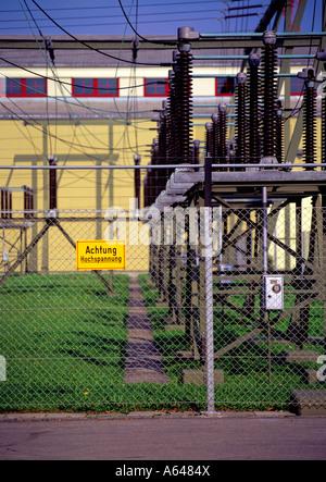 sub power substation switzerland - Stock Photo
