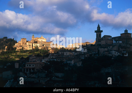 village of valldemosa island of mallorca balearic islands spain - Stock Photo