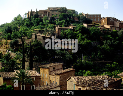 village of deia island of mallorca balearic islands spain - Stock Photo