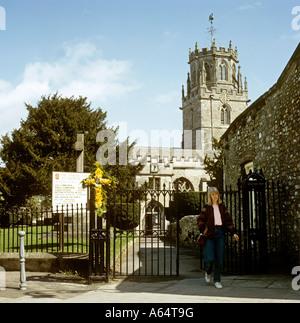 UK Devon Colyton village St Andrews church - Stock Photo