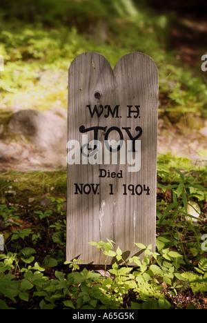 Wooden Grave Marker Alaska - Stock Photo