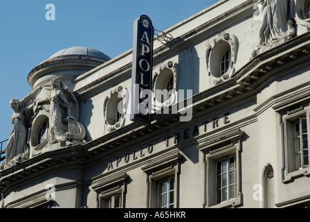 The Apollo Theatre in Shaftesbury Avenue London England - Stock Photo