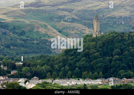 The Wallace National Monument Stirling Scotland - Stock Photo