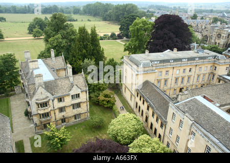 Merton College Oxford From Above - Stock Photo