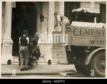 Removal Men 1929 - Stock Photo