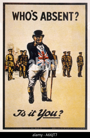 Whos Absent Wwi Poster - Stock Photo