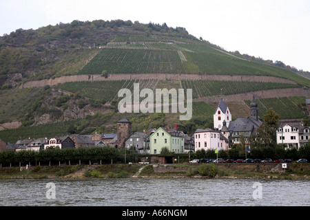 Pictorial historical towns on the River Rhein in Germany - Stock Photo