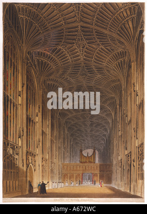 Kings Chapel Pugin C1820 - Stock Photo