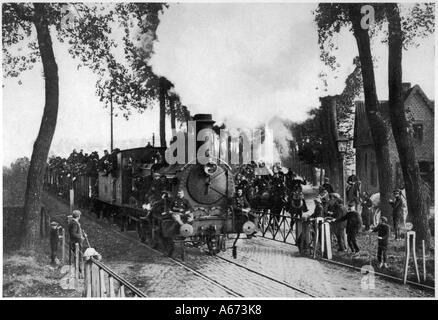 Belgians Leave Antwerp - Stock Photo