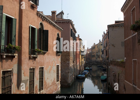 Street in Venice in the afternoon sunshine - Stock Photo