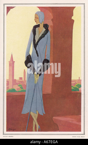 Costume By Lelong 1930 - Stock Photo