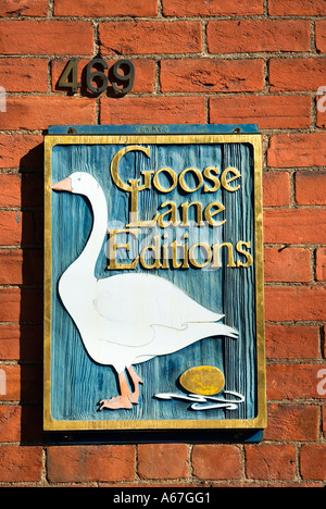 Goose Lane Edtions Fredericton New Brunswick Canada - Stock Photo