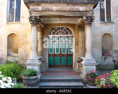 entrance to United Reformed Church in Glastonbury High Street Somerset England United Kingdom - Stock Photo