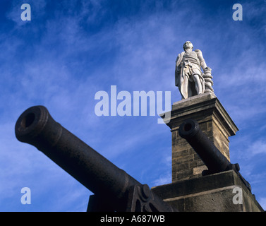 Statue of Admiral Lord Collingwood Tynemouth Tyne & Wear - Stock Photo