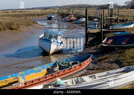 The pretty coastal village of Thornham Staithe near Hunstanton in Norfolk - Stock Photo