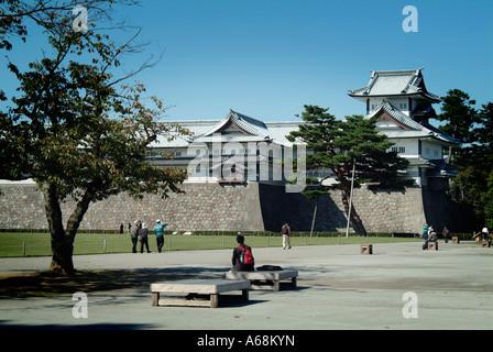 Kanazawa castle. Kanazawa. Ishikawa Prefecture. Japan. - Stock Photo