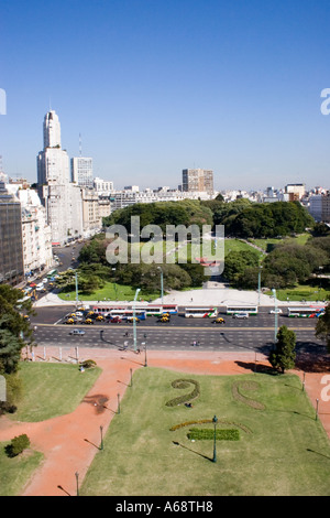 View from the English Tower (Torre de los Ingleses) in Buenos Aires - Stock Photo