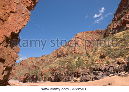 Ormiston Gorge in West MacDonnell National Park in the Northern Territory Australia - Stock Photo