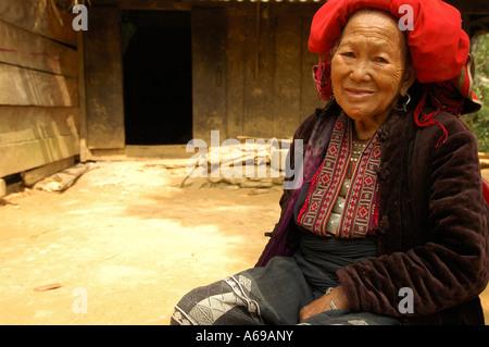 Red Dao Indigenous People, Ta Phin, Sapa, Vietnam. - Stock Photo