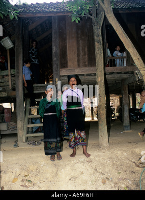 Two Muong women in a village in Northern Vietnam - Stock Photo