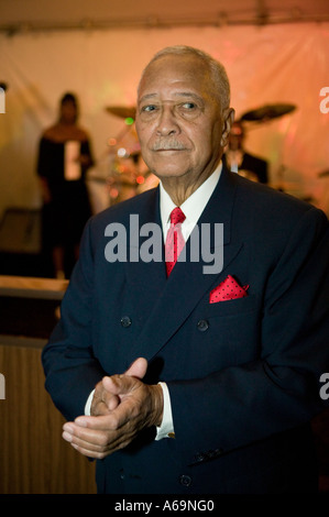 Former mayor David Dinkins attends a social function in New York City USA 23 February 2006 - Stock Photo