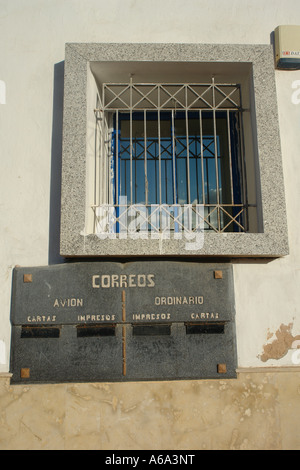 Mailbox of the main post office of Sidi Ifni (Morocco).This is a witness of the period of the Spanish presence - Stock Photo