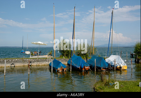 Summer afternoon scene on Fraueninsel, Chiemsee, Bavaria, Germany. - Stock Photo