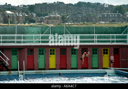 North berwick outdoor swimming pool shortly before the east lothian stock photo royalty free for Swimming pools in the north east