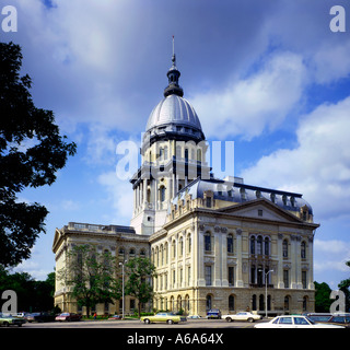 Illinois State capitol building in Salem in Illinois - Stock Photo