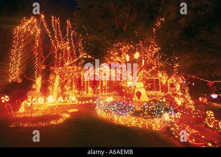 Christmas lighting on residence Stock Photo: 50102 - Alamy