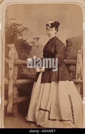 Portrait of Victorian lady late 1800s dsca 1996 - Stock Photo