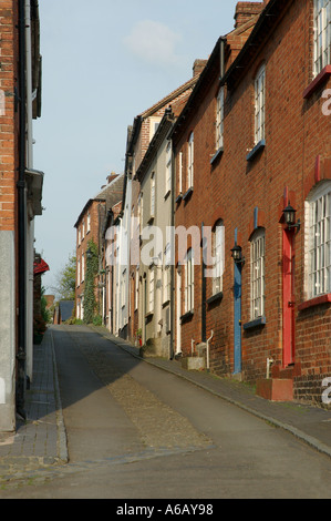 Street in Ludlow town - Stock Photo