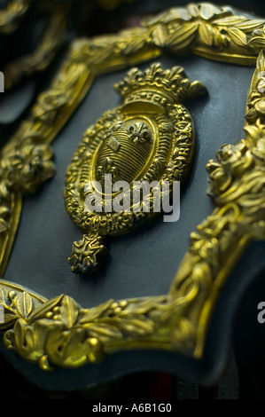Royal insignia on a harness Chantilly France - Stock Photo
