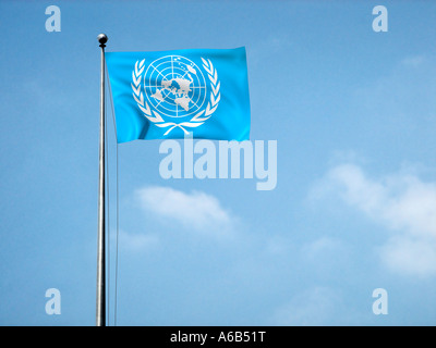 Flag Of The Uno Un United Nations Symbol Of Peace Stock Photo