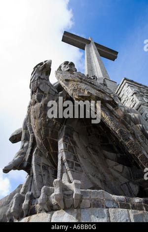 Statue of Saint John the evangelist in El Valle de los Caidos war memorial Madrid Spain - Stock Photo
