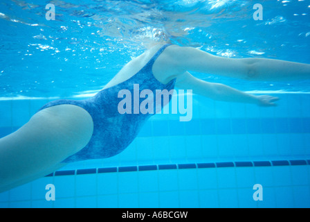 Pregnant Woman Swimming In Pool Stock Photo Royalty Free Image 54644582 Alamy