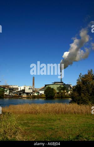 Sugar refinery in Northern NSW Australia - Stock Photo