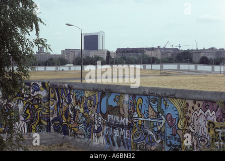 Berlin wall graffiti near potsdamer platz berlin stock for Berlin wall mural