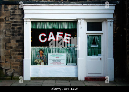 Sid's Café from Last of the Summer Wine, Holmfirth, West Yorkshire, UK - Stock Photo