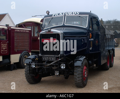 Pickfords Scammell Heavy Goods Haulage Lorry called Resolute at Chatham Docks Vintage Transport Day - Stock Photo