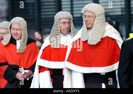 Members of the Judiciary arrive for the opening of the Senedd National Assembly for Wales, Cardiff Bay, South Wales, - Stock Photo